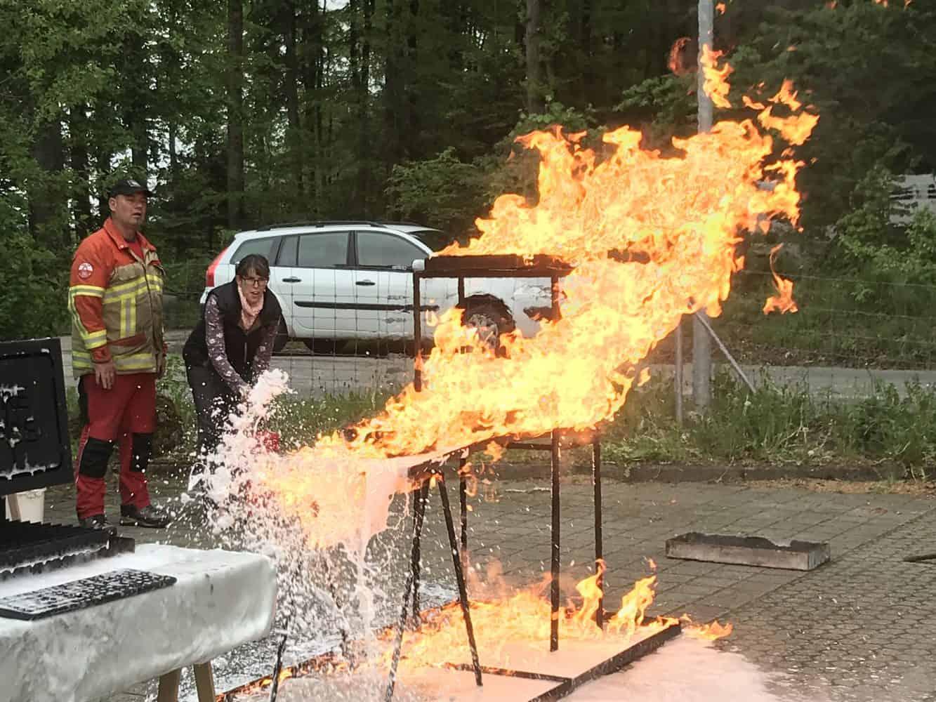 Brandschutzübung im RAZ