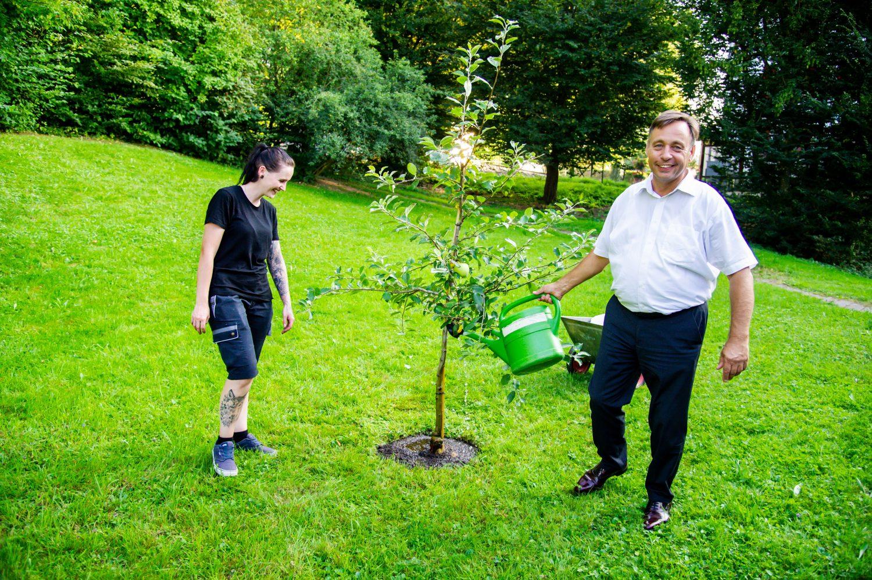 Rudolf Andres, Baumpflanzen im RAZ