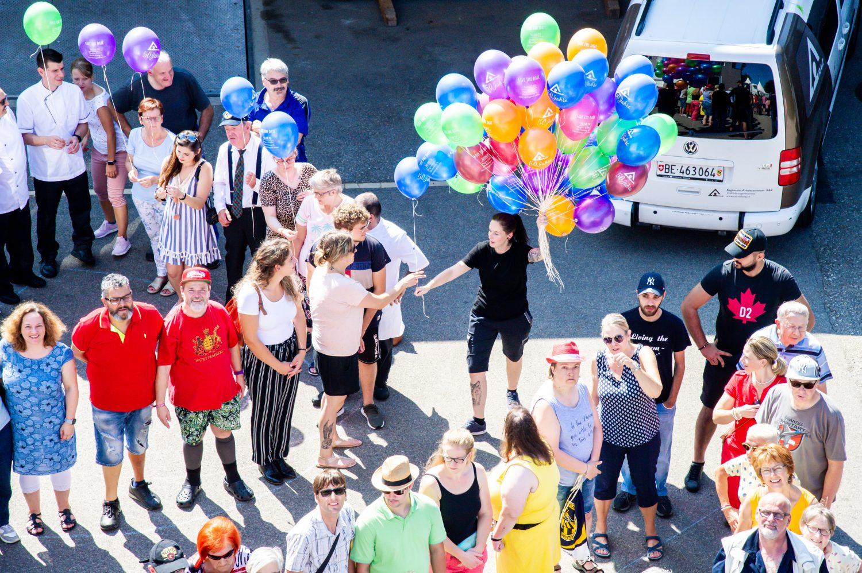 Luftballons RAZ – Jubiläumsfeier