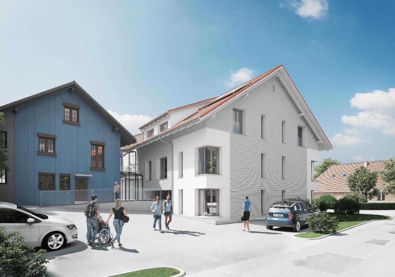 Das neue Wohnhaus des RAZ für Menschen mit Beinträchtigung.