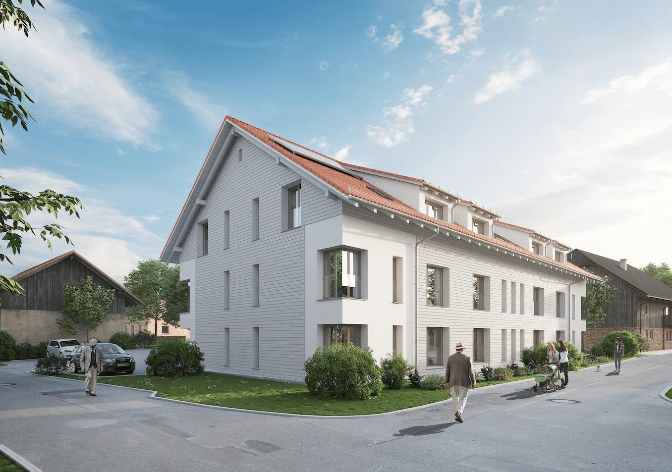 Das neue Wohnhaus des RAZ in der Heidenmoosstrasse.